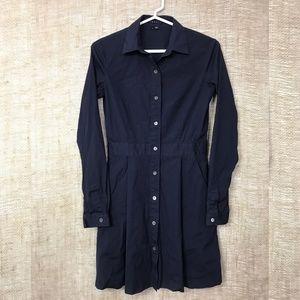Theory Soream Navy Blue A-Line Shirtdress